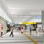 広島駅 新しい跨線橋(乗り換え通路)11月2日 供用開始
